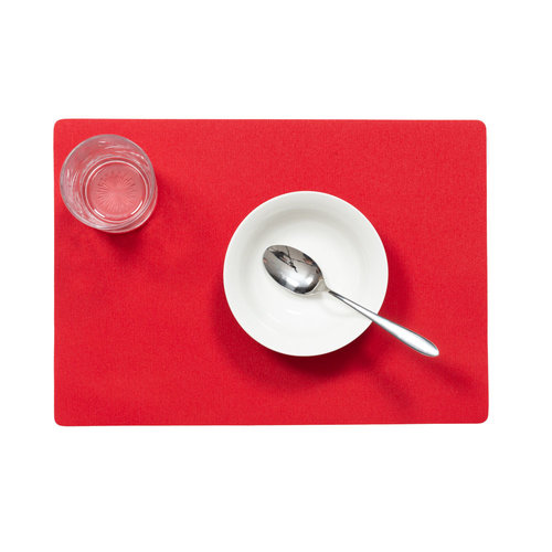 Placemats Uni Rood