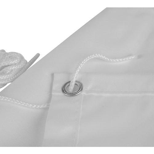 Balkonscherm Rechthoek Grijs Polyester
