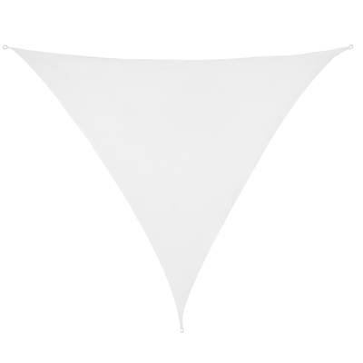 Schaduwdoek Driehoek Wit HDPE 3x3x3 M