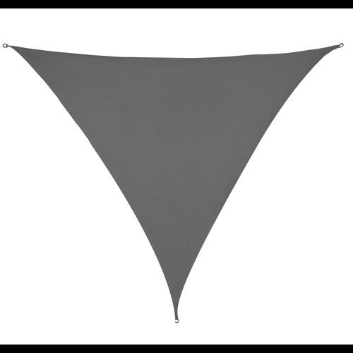Schaduwdoek Driehoek Grijs HDPE 3x3x3 M