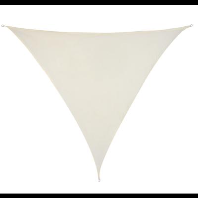 Schaduwdoek Driehoek Crème HDPE 3x3x3 M