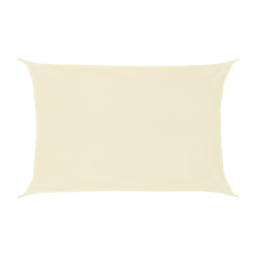 Schaduwdoek Rechthoek Crème Polyester 4X2 M