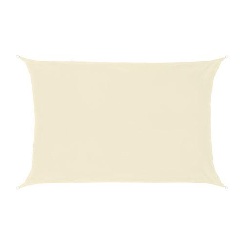 Schaduwdoek Rechthoek Crème Polyester