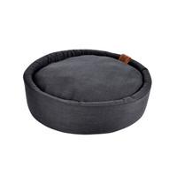Hondenkussen-Hondenbed-Cosy rond 60cm donker grijs