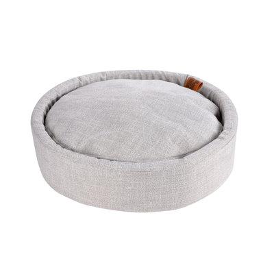 Hondenkussen-Hondenbed-Cosy rond 60cm licht grijs