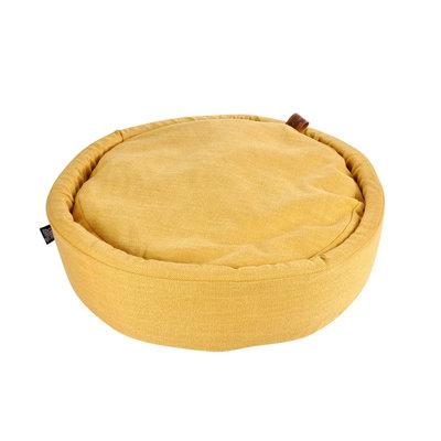 Hondenkussen-Hondenbed-Cosy rond 60cm geel
