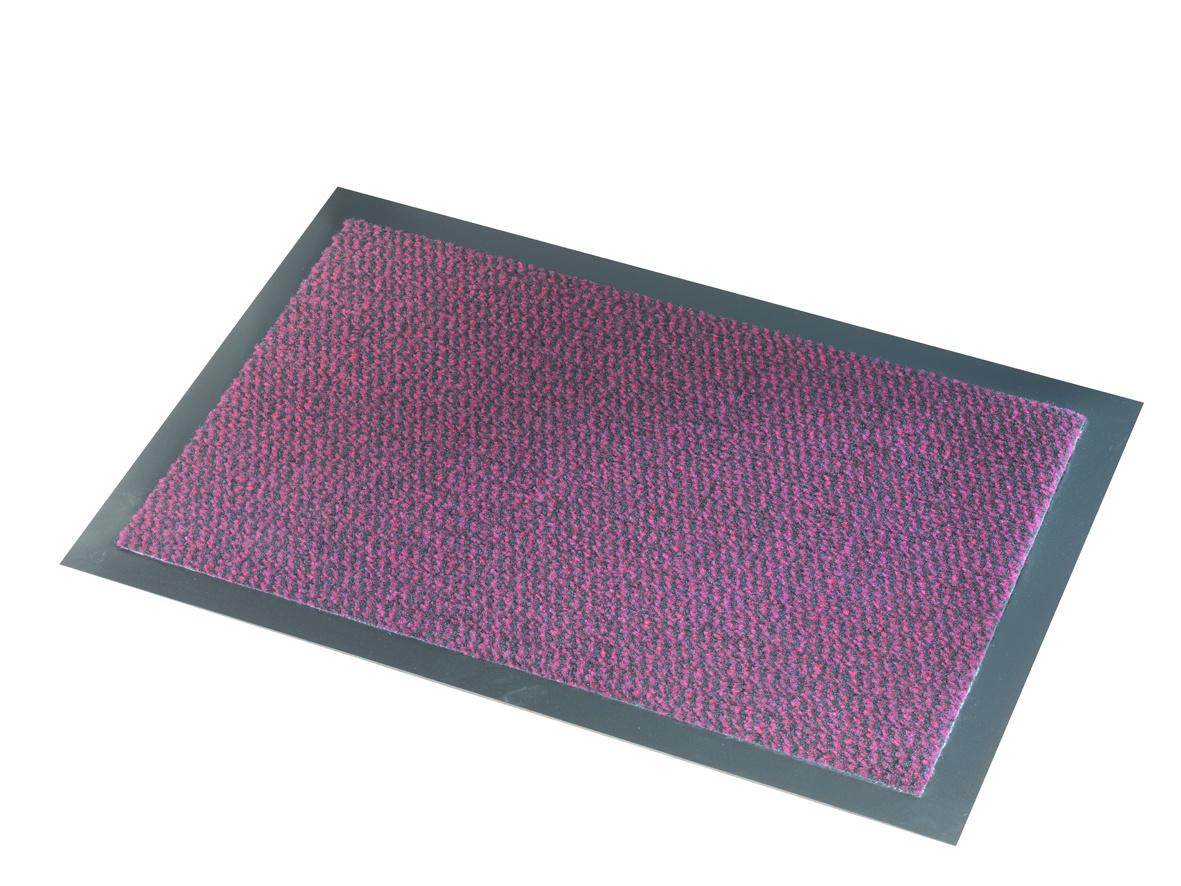 Droogloopmat Deurmat Faro Zwart - Rood - 7 mm Dik
