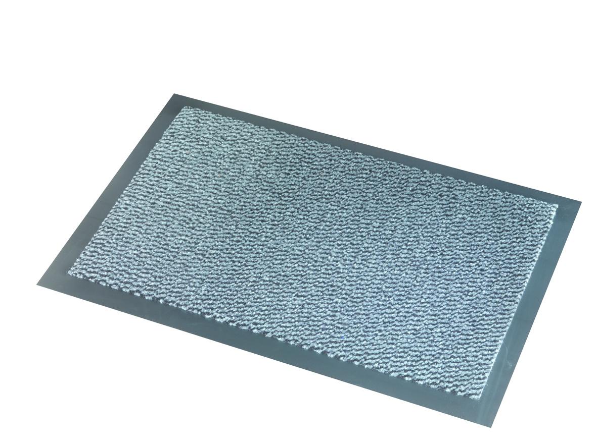 Deurmat-schoonloopmat Faro Zwart Blauw 7 mm Dik