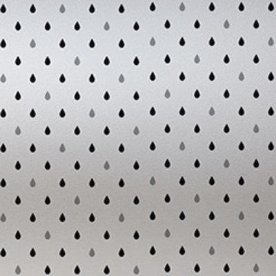 Raamfolie statisch-anti inkijk-Regen grijs 46cm