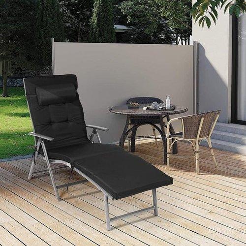 Lounge Stoel Zwart - Incl. Kussen