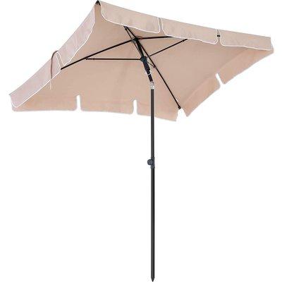 Parasol rechthoekig Beige - Incl. hoes