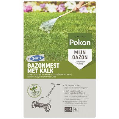 Pokon Gazonmest met Kalk 3-in-1 30m2