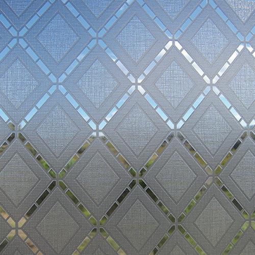 Raamfolie statisch-anti inkijk-Textiel Rhombus grijs 46cm x 1.5m