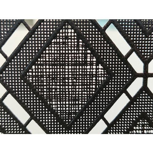 Raamfolie statisch-anti inkijk-Textiel Rhombus zwart 46cm Breed
