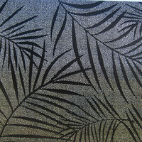 Raamfolie statisch-anti inkijk-Textiel Palms zwart 46cm Breed