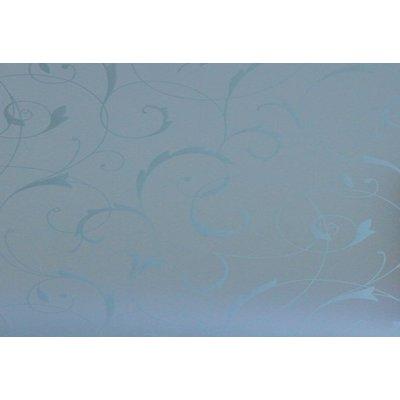 Raamfolie Statisch 45cm x 2m - Bloemen Wit