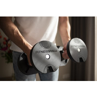 FitnessRAW Twist-pro adjustable dumbells set with stand