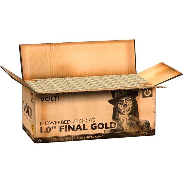 1,0'' Final Gold – Verbundfeuerwerk