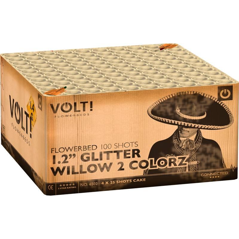 VOLT! 1,2'' Glitter Willow 2 Colorz – XXL Verbundfeuerwerk