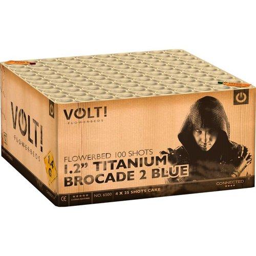 VOLT! 1.2'' Titanium Brocade 2 Blue – XXL Verbundfeuerwerk