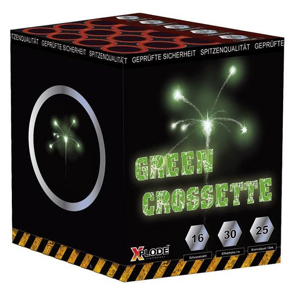 Crossettebatterie Grün