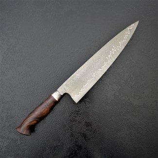 Xerxes-Knives 81# 23er Halbintegral mit einer Schneide aus Hochleistungsdamast