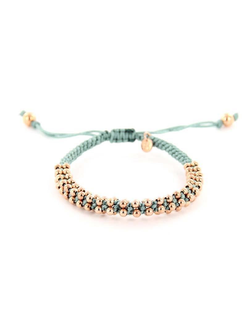 Barong Barong - Lucky Silk Grijs / Rosé - Armband