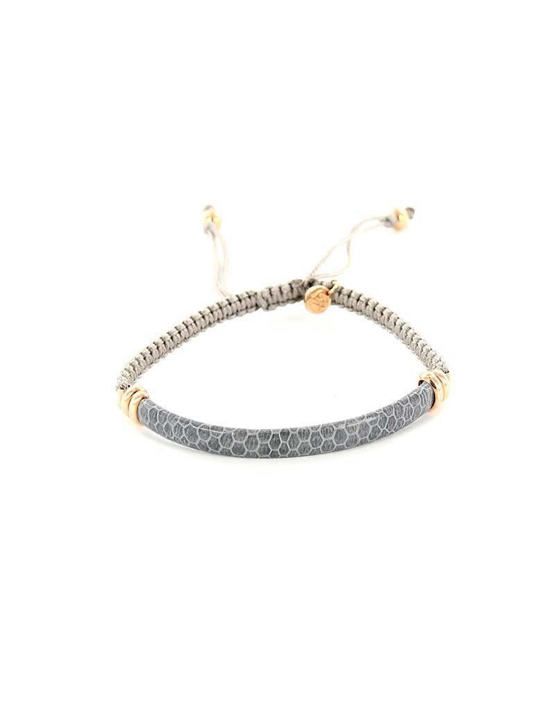 Barong Barong Barong Barong - Lucky Saphira Snake Rosé/Grijs- Armband