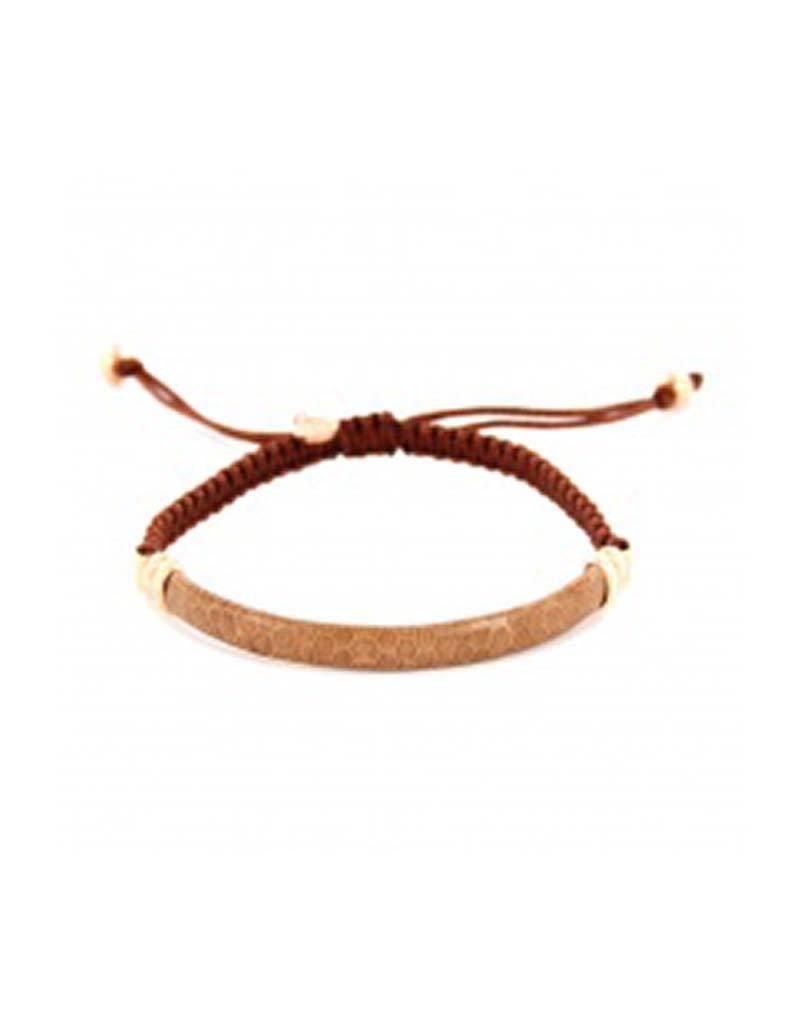 Barong Barong Barong Barong - Lucky Saphira Snake Gold/Bruin - Armband