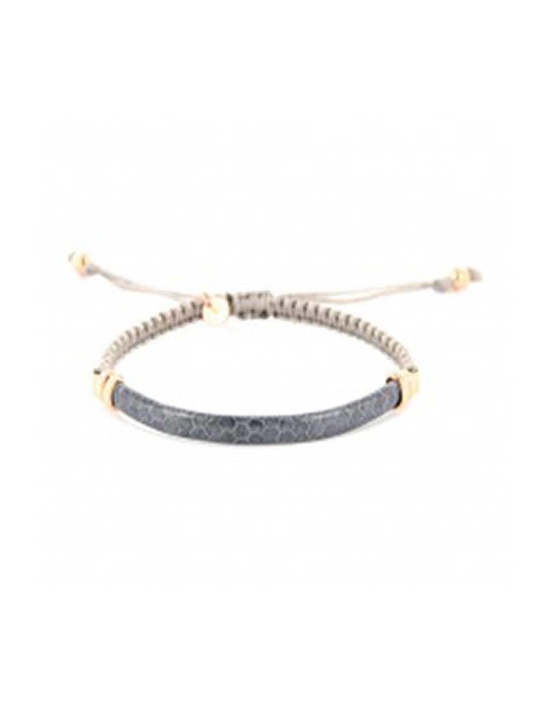 Barong Barong Barong Barong - Lucky Saphira Snake Gold/Lila - Armband