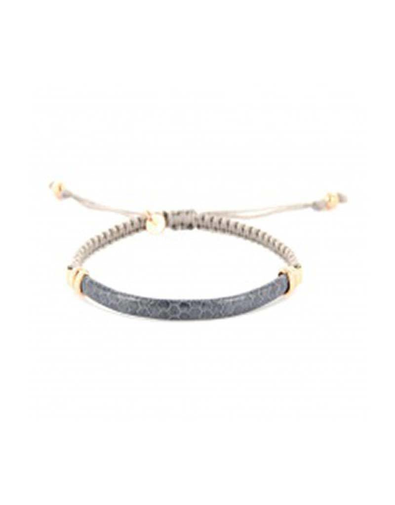 Barong Barong - Lucky Saphira Snake Gold/Lila - Armband