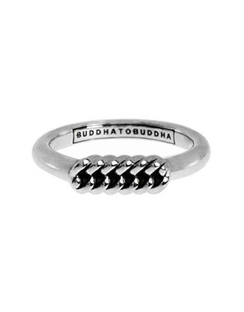 Buddha to Buddha Buddha to Buddha 016 Refined Chain Ring zilver - Maat 18.00 mm (57)