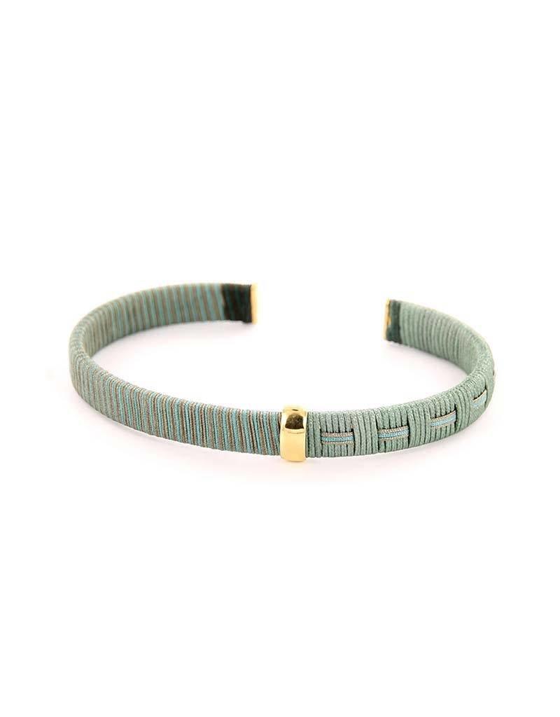 Barong Barong - Woven Dreams Gold/Grijs - Armband