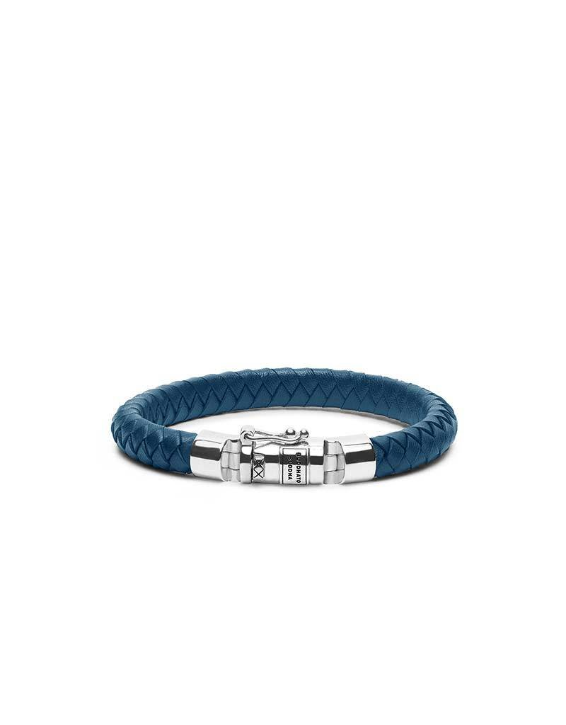 Buddha to Buddha BtoB 180BU E Ben Small Leather Blue armband - Size E - 19CM