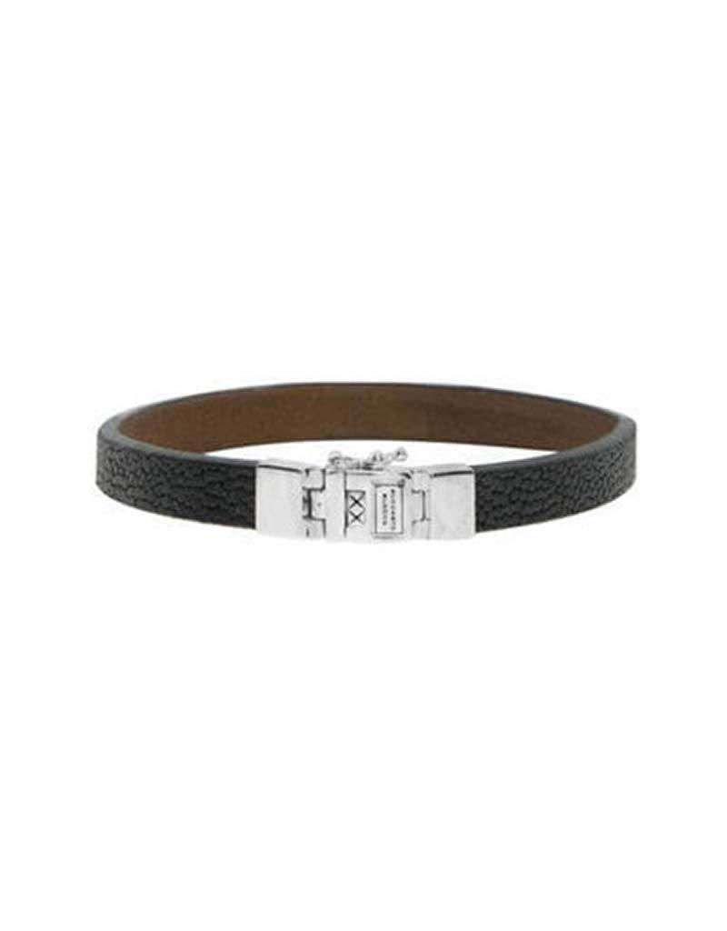 Buddha to Buddha BtoB 186BL E Armband  Essential Leather Texture Black armband - Size E - 19CM