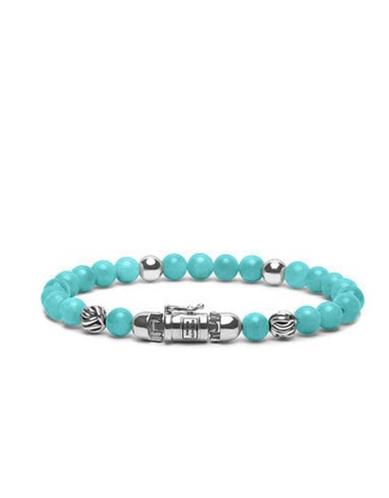 Buddha to Buddha Buddha to Buddha 189AM Spirit Bead Mini Amazonite armband - Maat E - 19cm