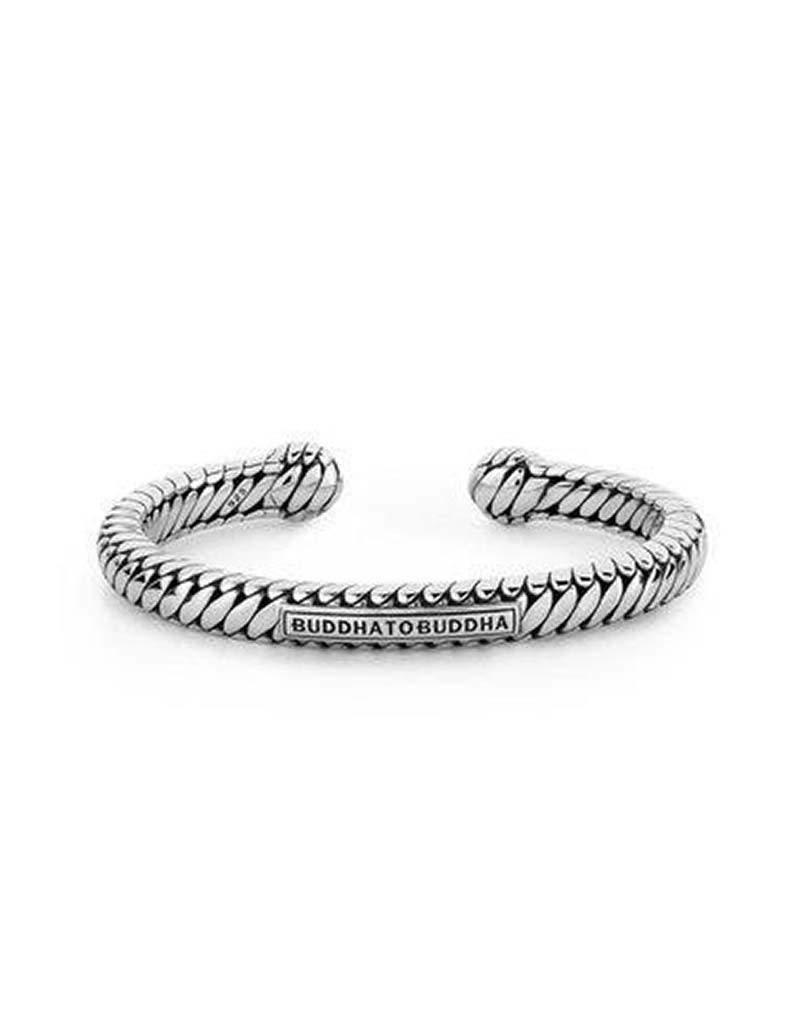 Buddha to Buddha Buddha to Buddha - 227 Ben Torque Bracelet Silver - Maat  E - 19cm