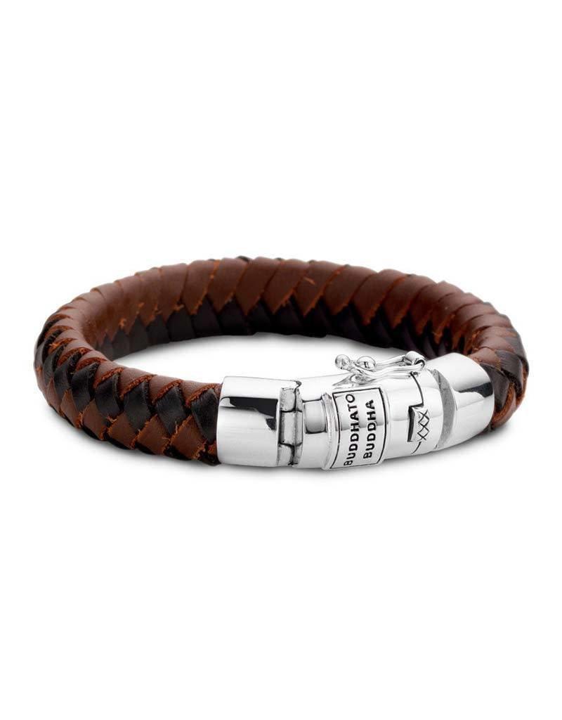 Buddha to Buddha BtoB 544Mix  E armband Ben mix E black brown  - Maat E 19CM