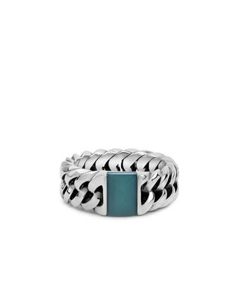 Buddha to Buddha Buddha to Buddha 603GR Chain Stone Ring Green - Maat 18.00 mm (60)   (Collection Edelsteen)