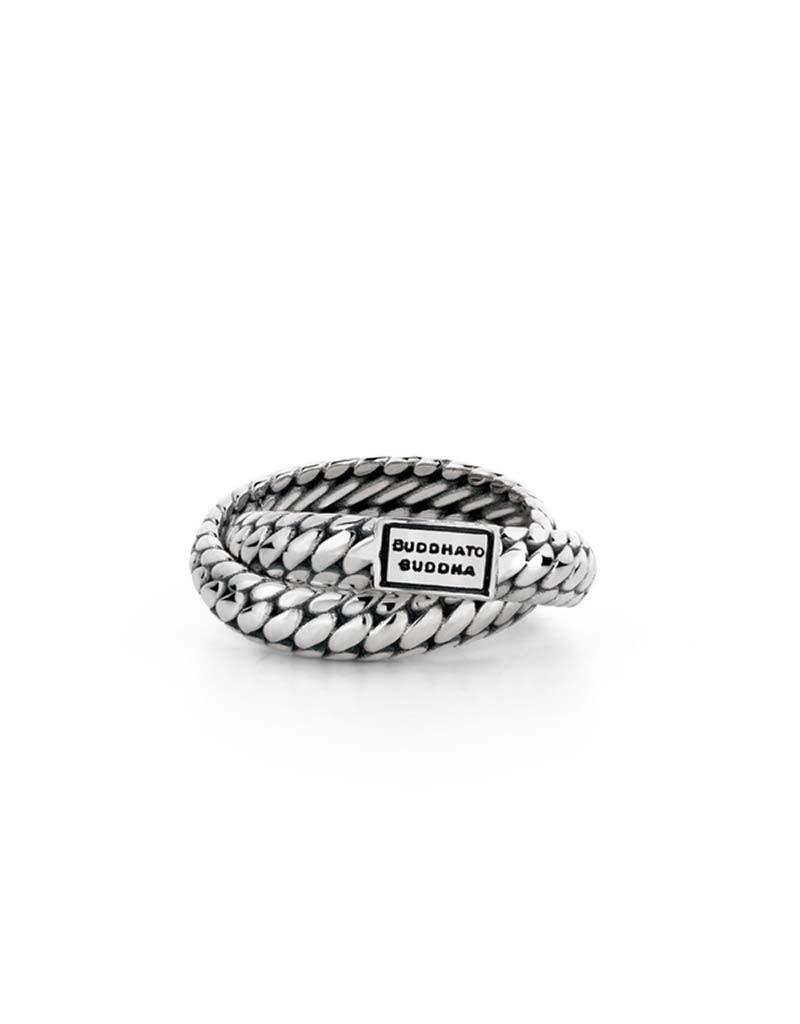 Buddha to Buddha Buddha to Buddha - 607 - Ben Double Ring Silver - Maat 19.00 mm (60)