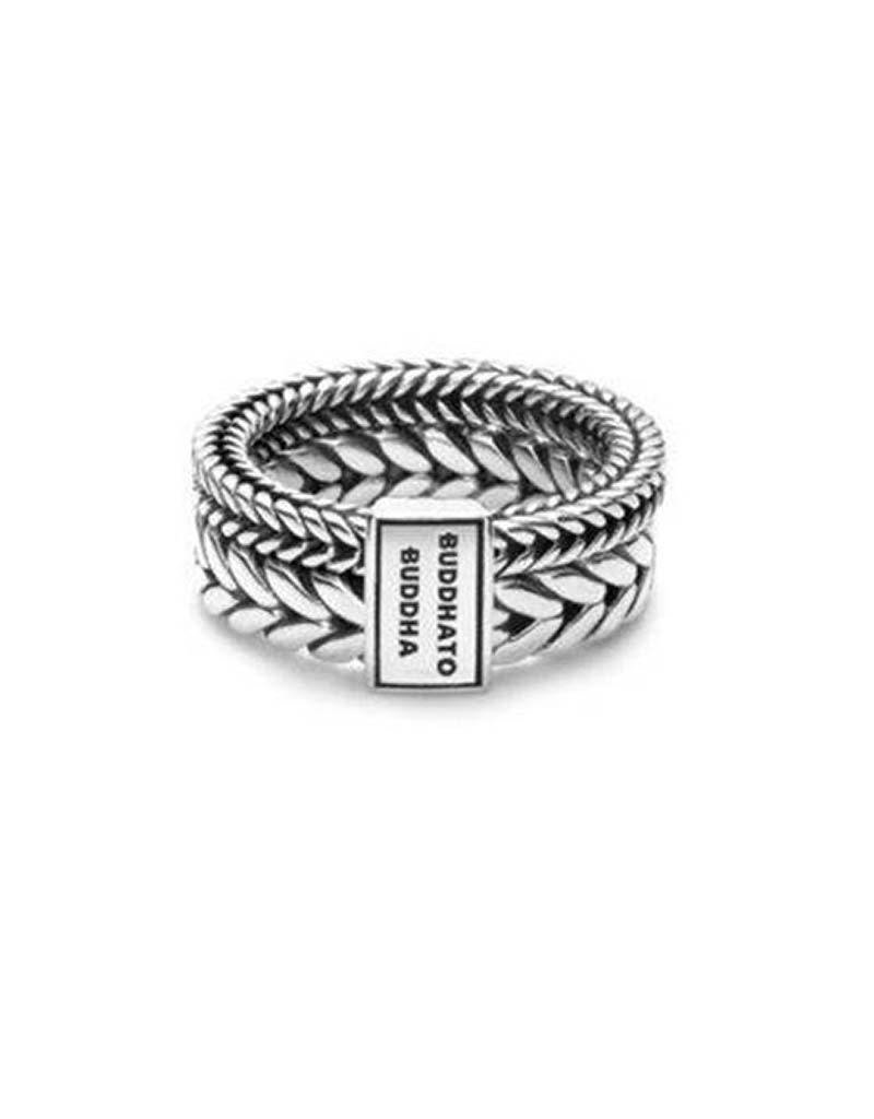 Buddha to Buddha Buddha to Buddha 609 Barbara Double Ring Silver - Maat 16.00 mm (50)