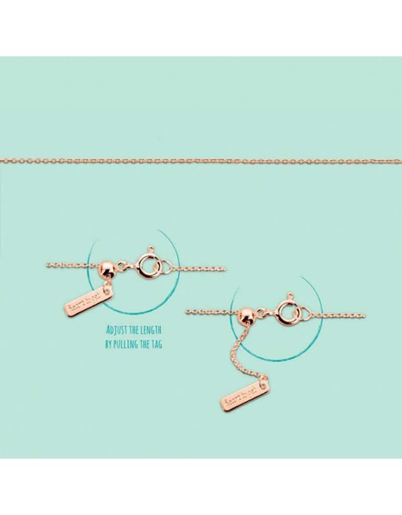 Heart to Get  -  Heart For Initials C230ADJ14R -  chain, adjustable, rose - rose - Hanger