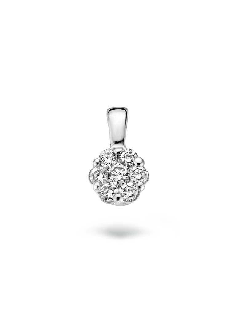 Blush Blush 6604WDI Hanger 14 Krt Witgoud met Diamant 0.11 Crt