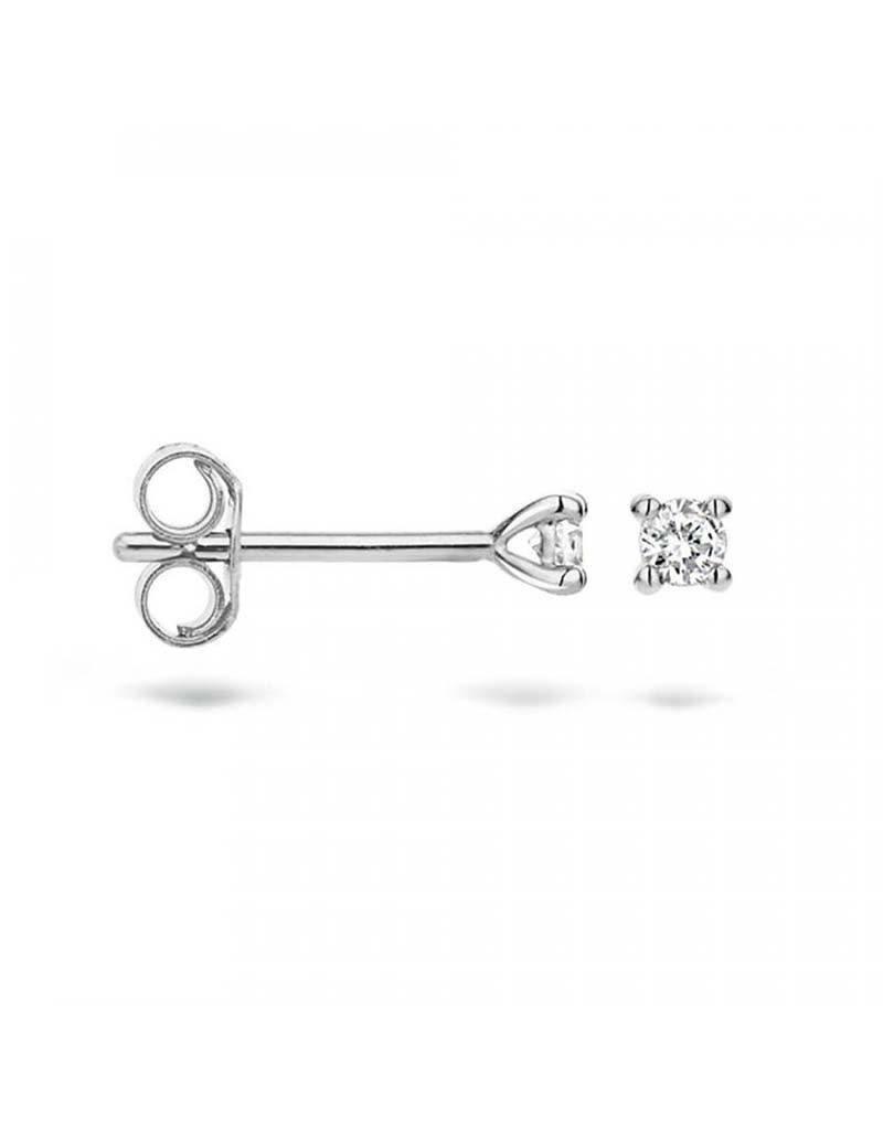 Blush 7601WDI oorbellen 14 krt witgoud met diamant