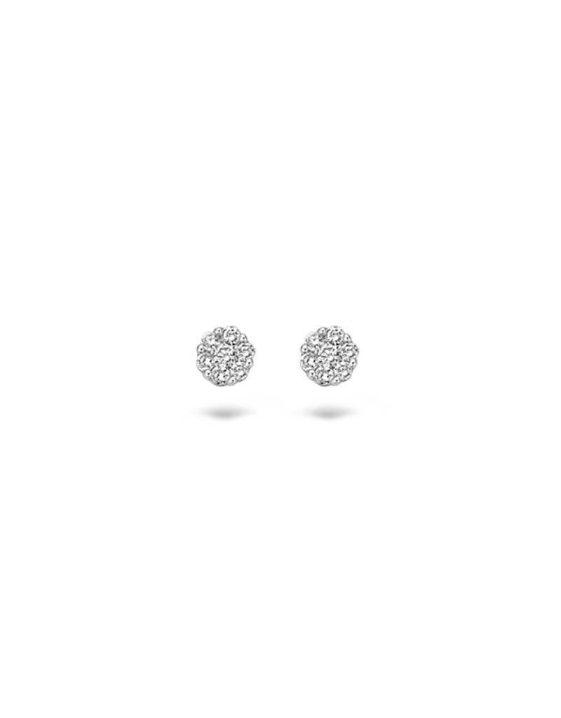 Blush 7603WDI - Oorbellen 14 krt witgoud met diamant