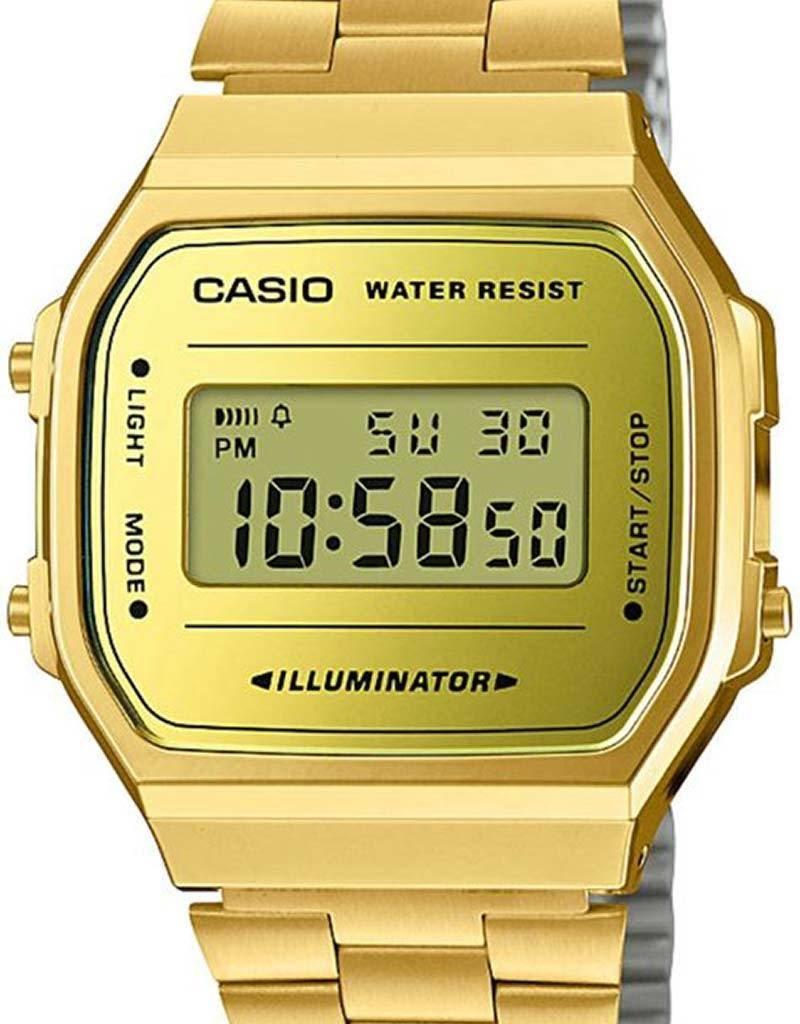 Casio Casio A168WEGM-9EF horloge dames - goud - kunststof