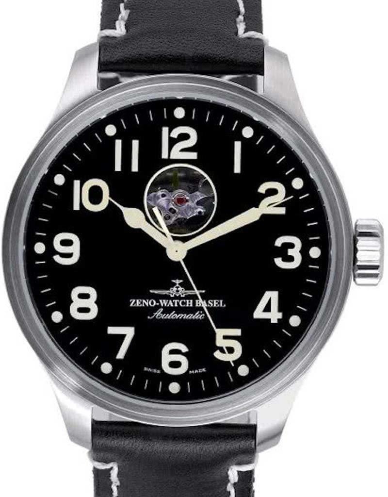 Zeno-Watch Basel Zeno - Watch Herenhorloge - OS Pilot Open Heart - 8554U - a1