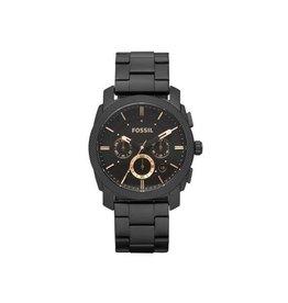 Fossil Fossil FS4682 Horloge Heren Chrono Staal Zwart