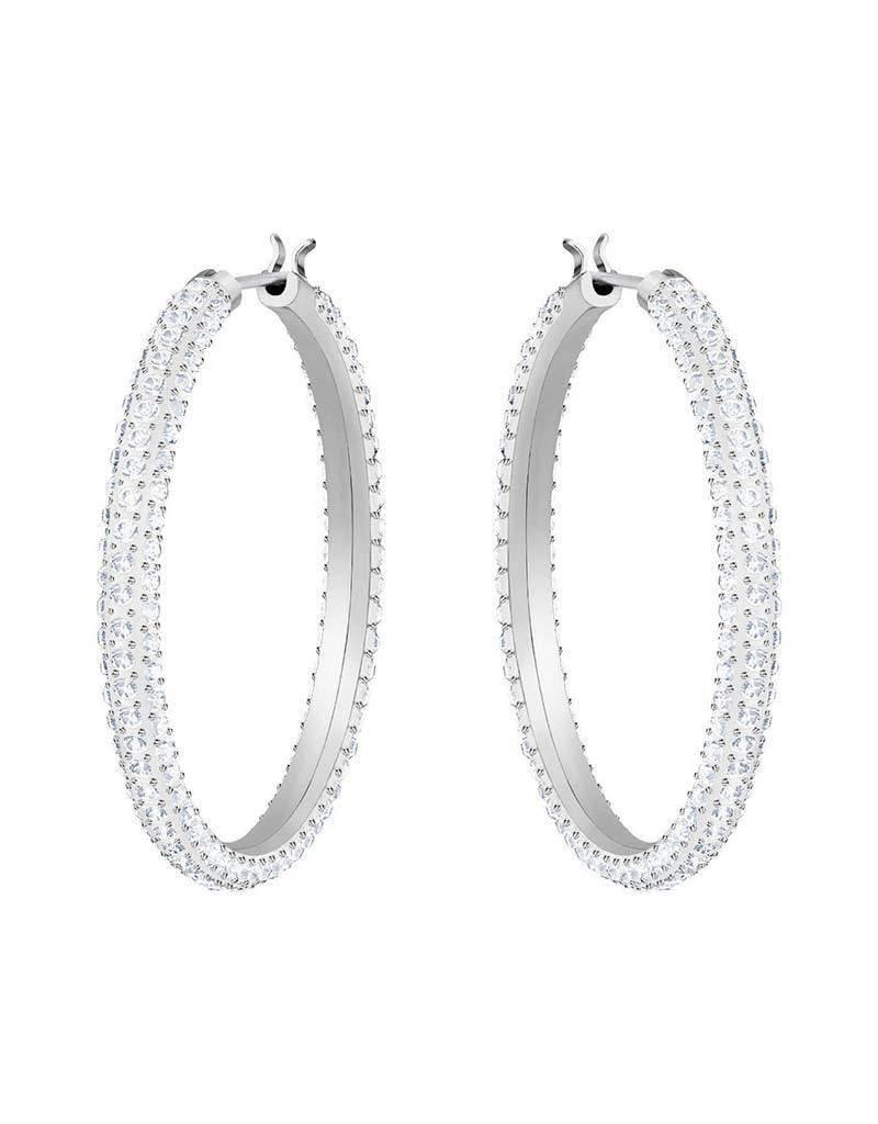 Swarovski  Oorbellen Stone Hoop Crystal - 5389432