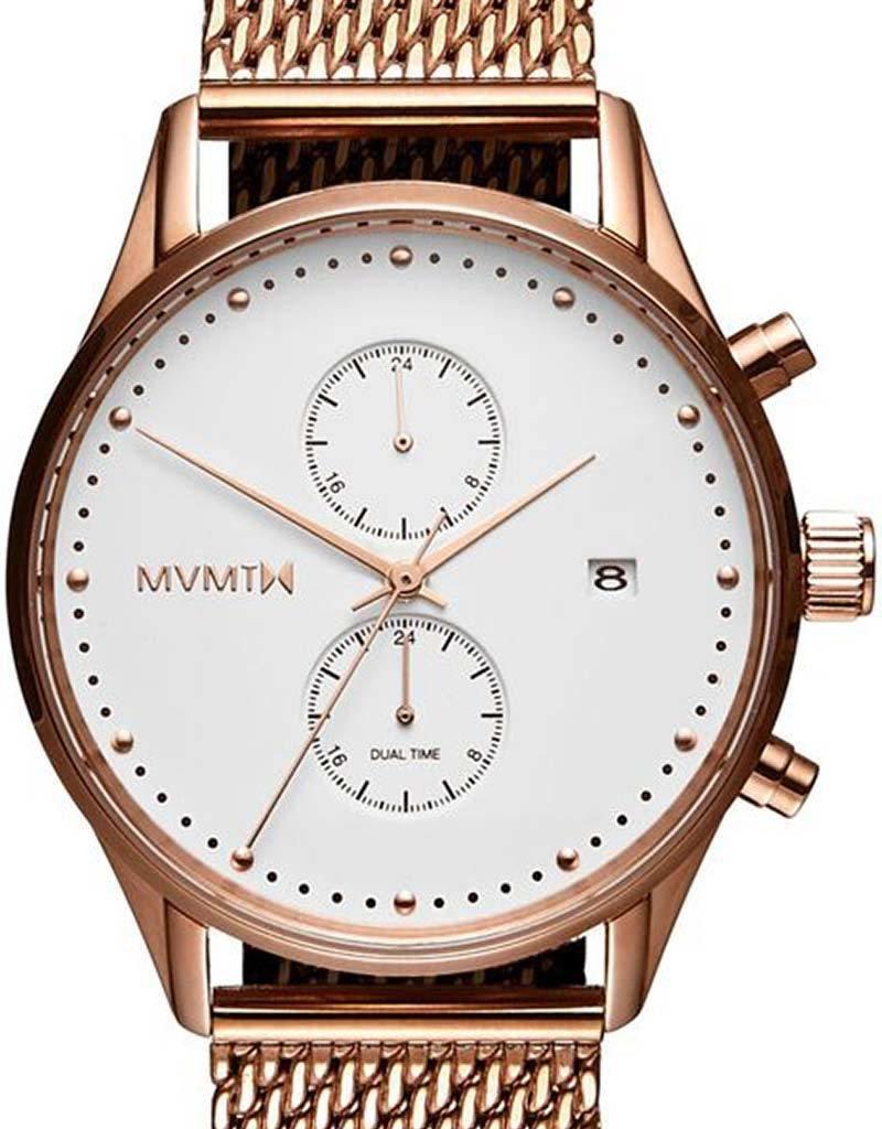 MVMT MVTM Voyager White Rose D-MV01-RGM - Horloge - Staal - Rosegoudkleurig - 42mm